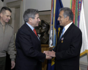 Zalmay Khalilzad and Paul Wolfowitz