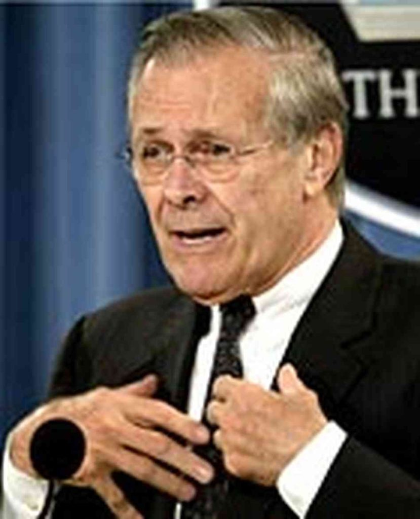 Donald Rumsfeld Right Web Institute For Policy Studies