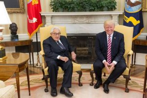 Henry Kissinger and Donald Trump