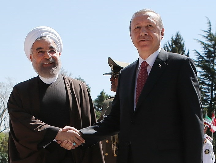 Iranian President Hassan Rouhani and Turkish President Recep Tayyip Erdogan (Wikimedia Commons)